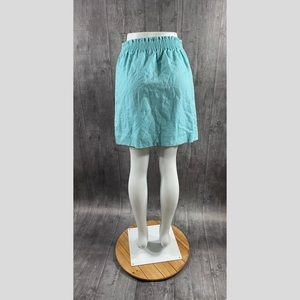 J. Crew Skirts - J Crew Factory Sidewalk Mini Skirt Linen Size 4